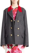 Dolce & Gabbana Wool & Cotton Double Breasted Peacoat