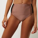 River Island Womens Brown mesh high rise bikini bottoms
