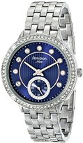 Swarovski Armitron Women's 75/5234BLSV Crystal Accented Blue Dial Silver-Tone Bracelet Watch