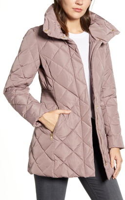 Cole Haan Quilted Down & Feather Coat