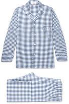 Emma Willis - Gingham Brushed Cotton-twill Pyjama Set