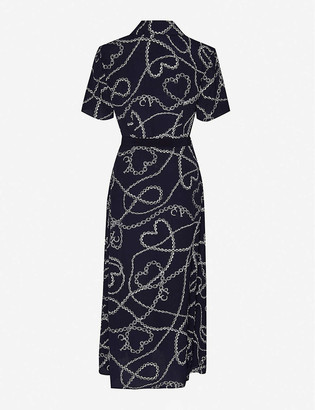 Claudie Pierlot Floral-print crepe midi dress