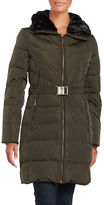 MICHAEL Michael Kors Faux Fur-Trimmed Down Coat
