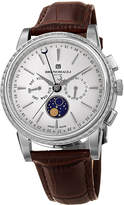 Bruno Magli 43mm Limited Edition Moonphase Watch, Brown/Steel