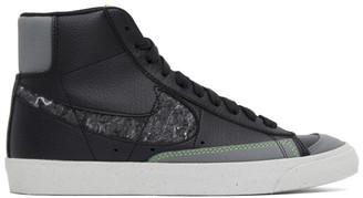 Nike Black and Grey Blazer Mid 77 Sneakers