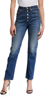 Rag & Bone Jane Super High-Rise Button-Fly Cigarette Jeans