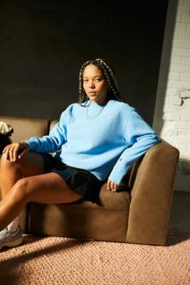 Champion UO Exclusive Blue Crew Sweatshirt - Blue XS at Urban Outfitters