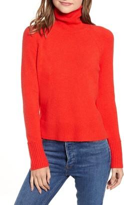 J.Crew Side Slit Supersoft Turtleneck Sweater