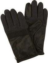Perry Ellis Men's Wool And Leather Glove