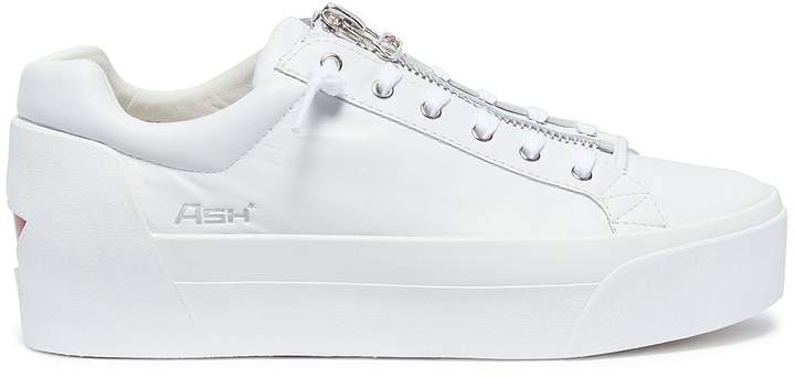 Ash 'Buzz' zip leather platform sneakers
