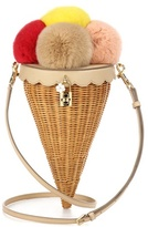 Dolce & Gabbana Rattan, Fur And Leather Shoulder Bag