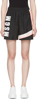 MSGM Black Colorblocked Logo Shorts
