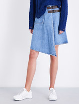 Miharayasuhiro Raw-edge denim skirt