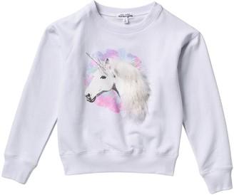 Ten Sixty Sherman Magic Unicorn Faux Fur Detail Long Sleeve Top (Big Girls)