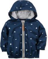 Carter's Hooded Printed Poplin Jacket, Baby Boys