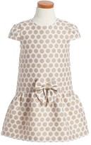 Luli & Me Gold Dot Dress (Toddler Girls & Little Girls)