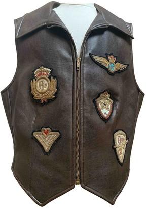 Philosophy di Alberta Ferretti Brown Leather Leather jackets