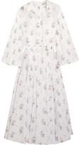 Emilia Wickstead Anel Floral-print Cotton-voile Midi Dress - White