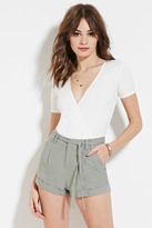 Forever 21 FOREVER 21+ Cuffed Linen-Blend Shorts