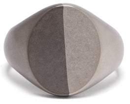 Maison Margiela Two-tone Silver Signet Ring - Mens - Silver Multi
