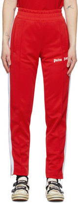 Palm Angels Red Classic Slim Track Pants