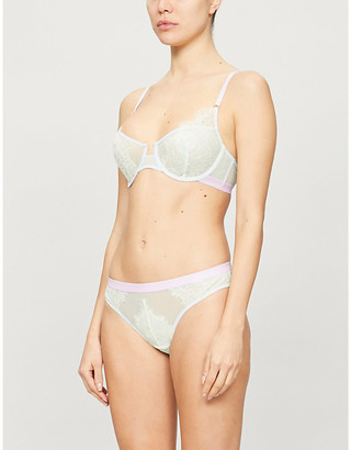 Dora Larsen Marlowe stretch-lace and mesh underwire bra