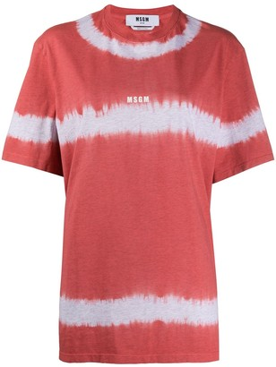 MSGM oversized tie-dye T-shirt