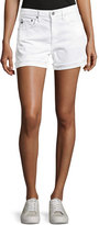 AG Adriano Goldschmied Hailey Mid-Rise Denim Jeans Shorts, White