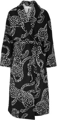 Desmond & Dempsey The Jag Navy Terrycloth Robe