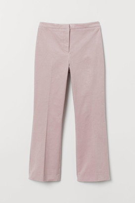 H&M Calf-length Corduroy Pants - Pink