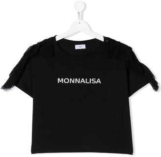 MonnaLisa logo print T-shirt