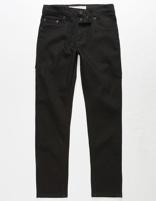 Levi's 502 Regular Taper Fit Black Boys Jeans