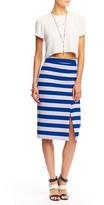 Nicole Miller Striped Slit Skirt
