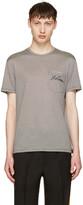Alexander McQueen Black & Off-White Striped Pocket T-Shirt