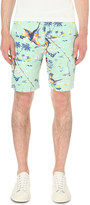Polo Ralph Lauren Straight-fit print linen-blend shorts