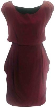 Fendi Burgundy Wool Dresses