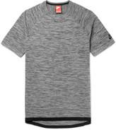 Nike - Sportswear Slim-fit Mélange Tech-knit T-shirt