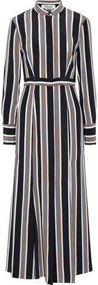 Diane von Furstenberg Printed Silk Maxi Shirt Dress