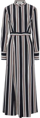 Diane von Furstenberg Striped Silk Crepe De Chine Maxi Dress
