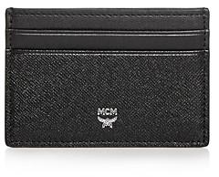 MCM Bric Saffiano Leather Card Case