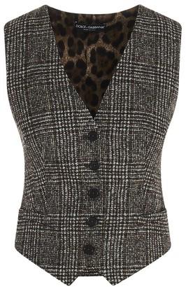 Dolce & Gabbana Prince Of Wales Waistcoat