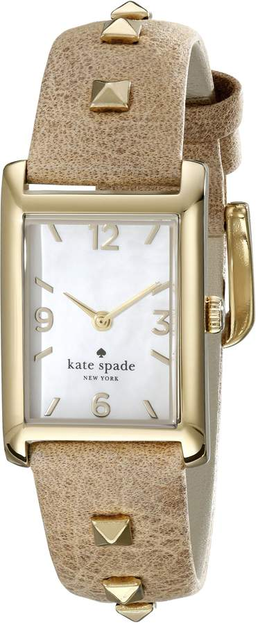 Kate Spade Women's 1YRU0246 Cooper Stainless Steel Watch With Light Brown Leather Band