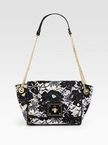 Milly Isabella Lace Printed Leather Shoulder Bag