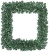"Vickerman 30"" Oregon Fir Square Wreath, Dura-Lit 70 Clear"