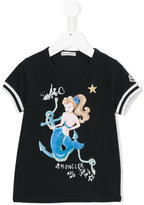 Moncler mermaid print T-shirt - kids - Cotton/Spandex/Elastane - 6 yrs