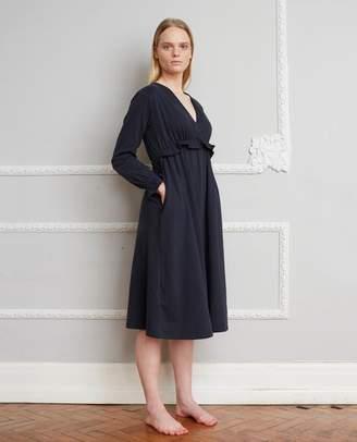 Beaumont Organic Inez Organic Cotton Dress In Deep Indigo - Deep Indigo / Small