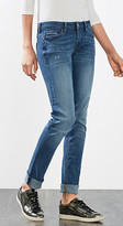 Esprit EDC - Vintage embroidered stretch jeans