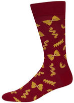 Hot Sox Pasta Printed Socks