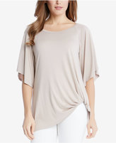 Karen Kane Scoop-Neck Pick-Up-Hem Top