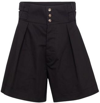 Etro High-rise cotton paperbag shorts